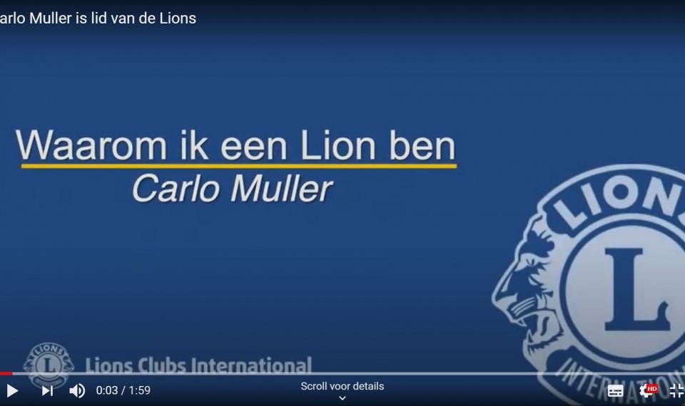 Carlo Muller vertelt over zijn Lions lidmaatschap